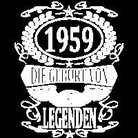 geboren 1959 Geburt von Legenden Geburtstag Shirt