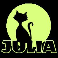 Julia Vorname Katzenmotiv persönliches Geschenk