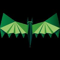 Grüne Poly Fledermaus