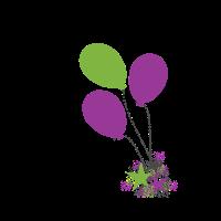 Luftballons mit Sternenstaub