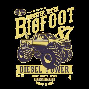 MONSTER TRUCK BIG FOOT - Vintage Truck Shirt Motiv