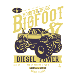 MONSTER BIG FOOT TRUCK - Retro Truck Shirt Motiv
