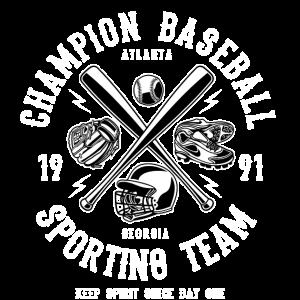 ATLANTA BASEBALL - Retro Baseball Shirt Motiv