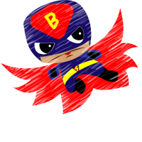 Comic Boy Superheld süß Halloween Geburtstag