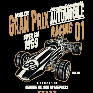 GRAND PRIX RACING - Retro Rennwagen Shirt Motiv
