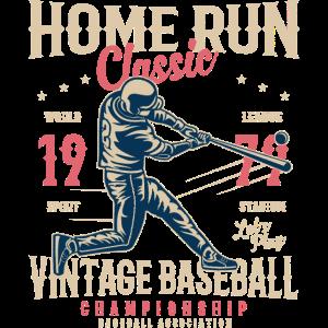 HOME RUN CLASSIC - Vintage Baseball Shirt Motiv