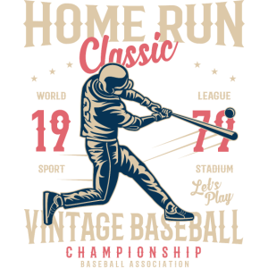 HOME RUN CLASSIC - Retro Baseball Shirt Motiv