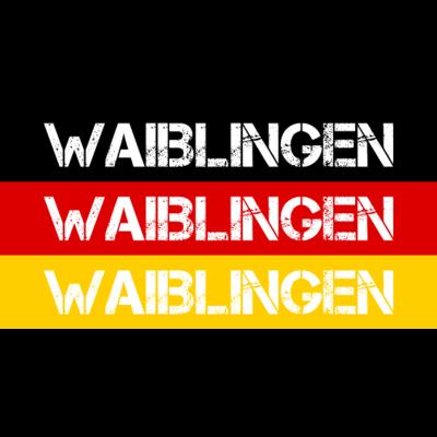 STADT WAIBLINGEN, DEUTSCHLAND - WAIBLINGEN ist deine Heimat? Dann ist dieses Design für dich! Heimat,Stadt,Deutschland,deutsch,städte,schwarz rot gold,Region,Orte,Ort,Stadtname,Metropole,großstadt,Heimatstadt,city,Deutschlandflagge, - Deutschlandflagge,städte,Region,deutsch,Stadt,BRD,Stadtname,Deutschland,Orte,Bundesrepublik,Ort,Deutschlandfahne,Heimatstadt,Metropole,Heimat,schwarz rot gold,city,WAIBLINGEN,großstadt