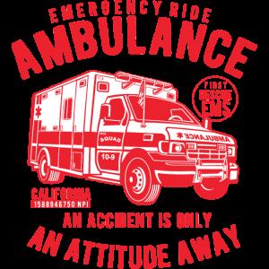 AMBULANZ - Krankenwagen Shirt Motiv