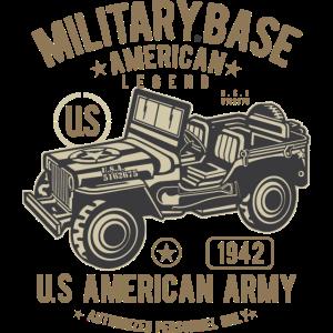 MILITARY OFFROAD JEEP - US Army Jeep Shirt Motiv