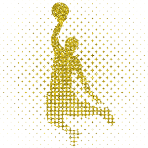 Goldener Basketball Spieler - Gold Basketballer