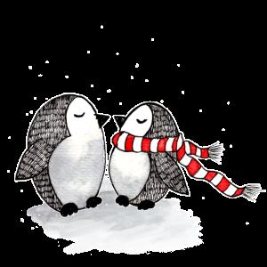 Niedliche Pinguine Winter