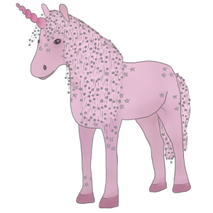 Einhorn rosa mit Sternen
