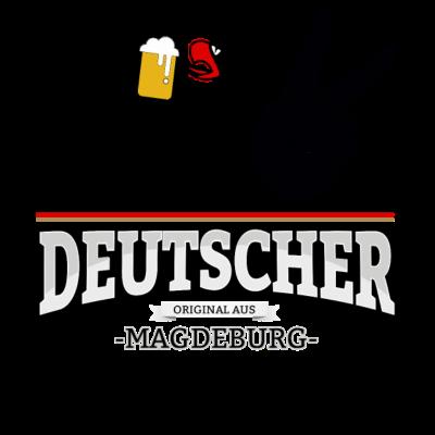 Aus Magdeburg Deutschland - Aus Magdeburg Deutschland - fun,aus,fussball,Stadt,Deutscher,Magdeburg,rot,wm,BRD,Adler,bestseller,Deutschland,gold,Deutsch,orginal,fussballtrikot,Trikot,Bier,cool,schwarz,Bundesadler,Schland,Weltmeisterschaft,Fußball