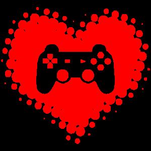 Ich Liebe Videospiele - Games Gamer Gaming Herz