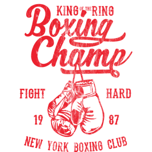 KING OF THE RING - Box und Boxer Shirt Motiv