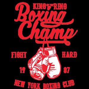 BOXING CHAMP - Box und Boxer Shirt Motiv