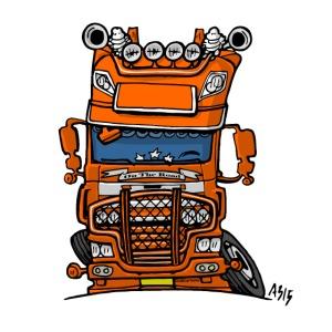 0613 daf fx auf der Straße Orange
