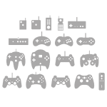 History of controllers (grey)