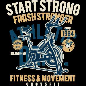 FINISH STRONGER - Sport und Fitness Shirt Motiv