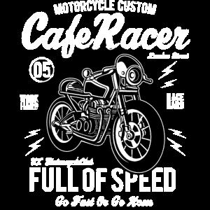 CAFE RACER BIKE - Vintage Motorrad Shirt Motiv