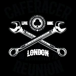 CAFERACER REUNION - London Motorrad Shirt Motiv