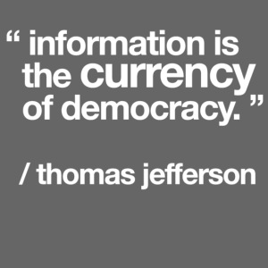 "women's/ ""information is the currency of democracy"