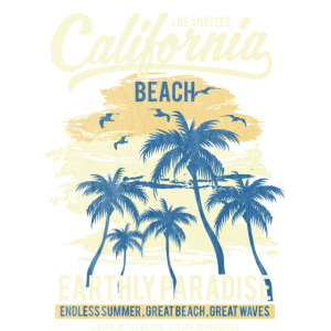 CALIFORNIA BEACH - Surf und Sommer Shirt Motiv