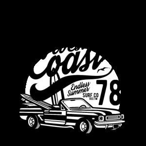 CALIFORNIA WEST COAST - Sommer & Surf Shirt Motiv