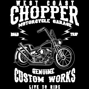 WEST COAST CHOPPER - Chopper Motorrad Shirt Motiv