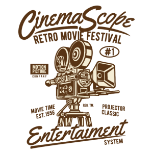 RETRO MOVIE FESTIVAL - Kino und Film Shirt Motiv