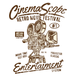 CINEMA SCOPE - Kino und Kamera Shirt Motiv