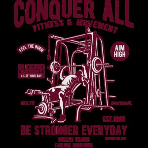 CONQUER ALL - Fitness & Training Shirt Motiv