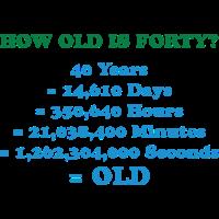 Wie alt ist 40 wirklich?
