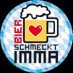 Bier schmeckt imma - Bayern Button