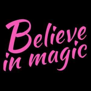 Believe in magic Logo in pink