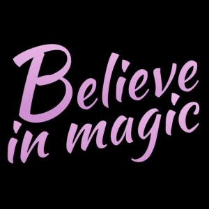 Believe in magic Logo in flieder