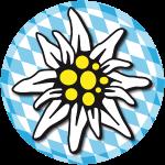 Edelweiss Bayern Wiesn Button