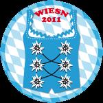 Wiesn 2011 Dirndl Bayern Tirol Alpen Button