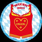 Wiesn 2011 Dirndl Engerl Bayern Tirol Button