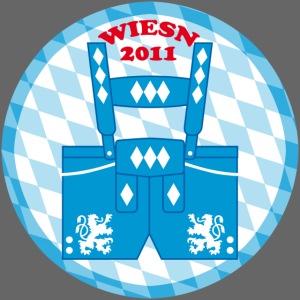 Wiesn 2011 Lederhose Bayern Button