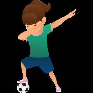 Soccer Girl Dab Dance