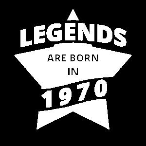 Legenden Shirt - Legends are born in 1970