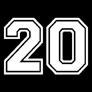 20 - AMERICAN FOOTBALL - Trikot Shirt Motiv
