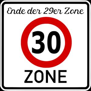Geburtstag 30er Zone