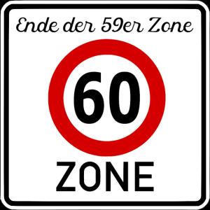 60 Jahre  60er Zone
