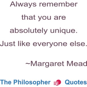 Margaret Mead Unique Philosopher b