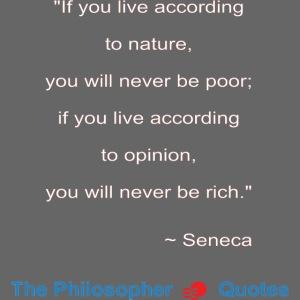 Seneca Living according to opinion Philosopher w1