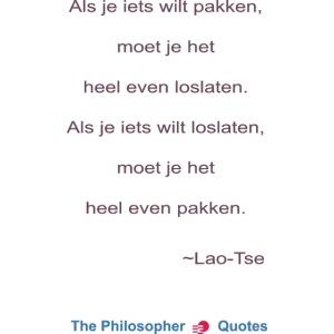 Lao Tse Pakken en loslaten b