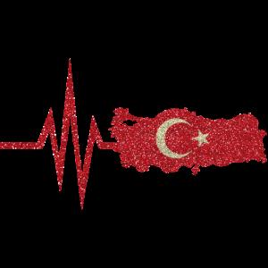 Mein Herz schlägt für Türkei Türkiye Cumhuriyeti
